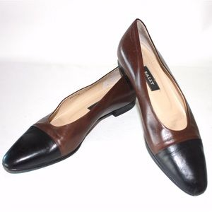 Bally Chocolate Brown Cap Toe Flat Loafer
